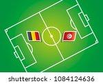 belgium vs tunisia flags vector ... | Shutterstock .eps vector #1084124636
