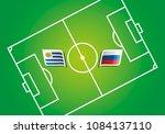 uruguay vs russia flags vector... | Shutterstock .eps vector #1084137110