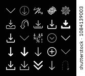 set of 25 arrows outline icons... | Shutterstock .eps vector #1084139003