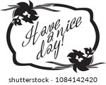 black and white frame with... | Shutterstock .eps vector #1084142420
