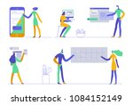 office concept business people. ... | Shutterstock .eps vector #1084152149