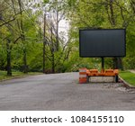 blank road warning information... | Shutterstock . vector #1084155110