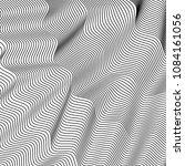 wavy background of lines.... | Shutterstock .eps vector #1084161056