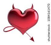 heart devil fake love abstract  ... | Shutterstock . vector #1084161470