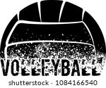 silhouette of an a volleyball... | Shutterstock .eps vector #1084166540
