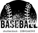 silhouette of a baseball with... | Shutterstock .eps vector #1084166543