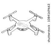 drone toy sketch | Shutterstock .eps vector #1084169663