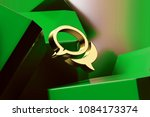 golden comments icon with the... | Shutterstock . vector #1084173374