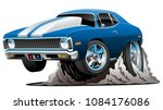 classic american muscle car... | Shutterstock .eps vector #1084176086