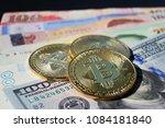 bitcoin concept  bitcoin stack...   Shutterstock . vector #1084181840