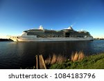 Small photo of Velsen, the Netherlands - May 4th 2018: MS Serenade of the Seas in North Sea Canal, operated by Royal Caribbean International