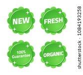 new fresh organic guarantee... | Shutterstock .eps vector #1084193258