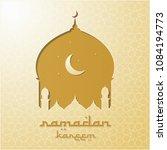 mosque silhouette vector... | Shutterstock .eps vector #1084194773
