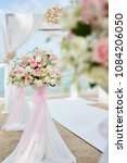 mix roses decorate wedding ... | Shutterstock . vector #1084206050