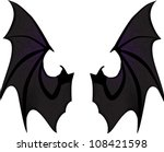 bat wings | Shutterstock .eps vector #108421598