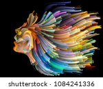 face of color series. abstract...   Shutterstock . vector #1084241336