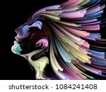 face of color series. abstract... | Shutterstock . vector #1084241408