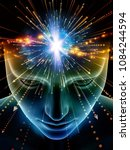 elements of mind series. 3d... | Shutterstock . vector #1084244594