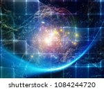 math universe series. abstract... | Shutterstock . vector #1084244720