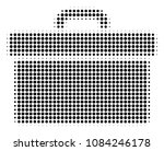 pixelated black toolbox icon.... | Shutterstock .eps vector #1084246178