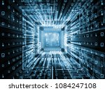 computing machine series. 3d... | Shutterstock . vector #1084247108