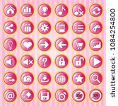 gui button pink circle with...
