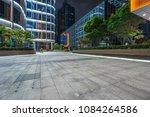 empty brick road nearby office... | Shutterstock . vector #1084264586