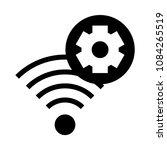 wifi setting vector glyphs icon