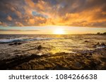 Scenic Colorful Sunset At The...
