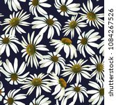 chamomile flowers. seamless... | Shutterstock .eps vector #1084267526