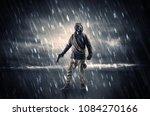 terrorist in a stormy space... | Shutterstock . vector #1084270166