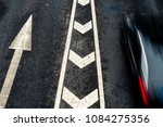 car driving on city road  high... | Shutterstock . vector #1084275356