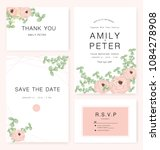 elegant wedding invitation card ... | Shutterstock .eps vector #1084278908