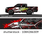 angry shark face decal design... | Shutterstock .eps vector #1084286309