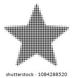 pixelated black fireworks star... | Shutterstock .eps vector #1084288520