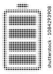 pixel black electric battery... | Shutterstock .eps vector #1084293908