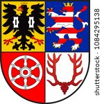 coat of arms of unstrut hainich ... | Shutterstock .eps vector #1084295138