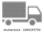 pixel black delivery lorry icon....   Shutterstock .eps vector #1084295750