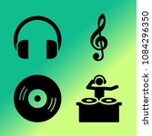 vector icon set about music... | Shutterstock .eps vector #1084296350