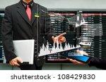 business man and graph report... | Shutterstock . vector #108429830