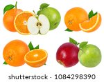 apple  and orange isolated on... | Shutterstock . vector #1084298390
