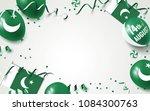 14th of august. pakistan...   Shutterstock .eps vector #1084300763