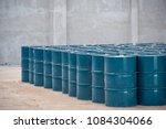 oil steel tank at storage area | Shutterstock . vector #1084304066