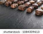 beautiful creative chocolate...   Shutterstock . vector #1084309613
