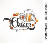 cheers  vector illustration... | Shutterstock .eps vector #1084311080