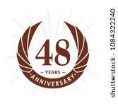 48 years anniversary. elegant... | Shutterstock .eps vector #1084322240