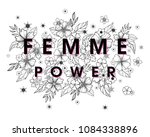 femme power   stylish print for ... | Shutterstock .eps vector #1084338896
