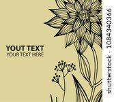 vector stylish vintage floral... | Shutterstock .eps vector #1084340366