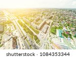 aerial city view with... | Shutterstock . vector #1084353344