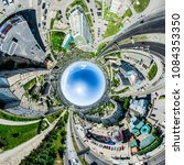 aerial city view with... | Shutterstock . vector #1084353350